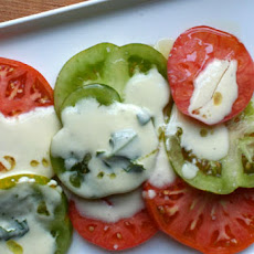 Tomato Salad with Basil Cream Dressing
