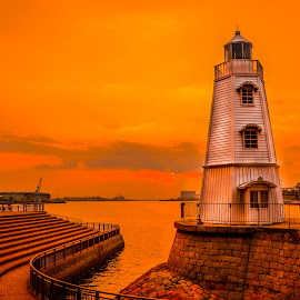 Old Sakai Lighthouse by Ardi Ariyoko - Buildings & Architecture Statues & Monuments