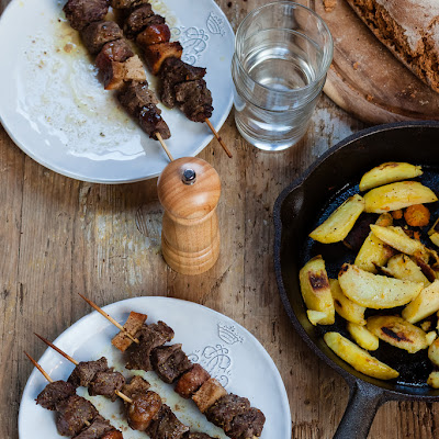 Beef Skewers With Orange And Lemon Marinade