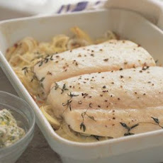 Roast Halibut with Herb Butter