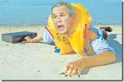 Bush pidiendo rescate financiero