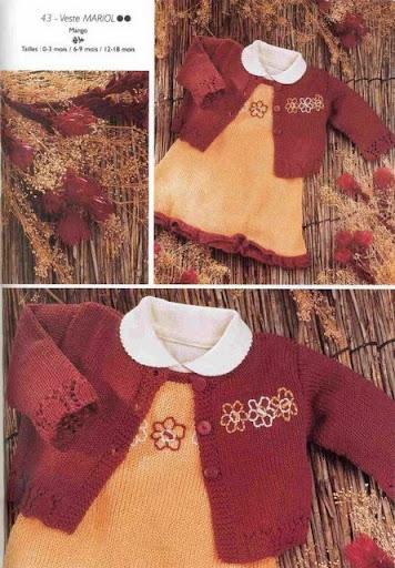 Küçük Hanımlara Örgü Elbiseler