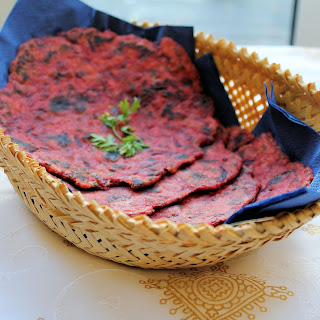 Beetroot Flat Bread | Beetroot Roti
