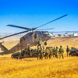 MedEvac by Assi Dvilanski - News & Events World Events ( helicopter, soldier, soldiers, gaza, blackhawk, israel, war, medevac )
