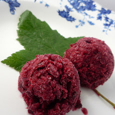Plum Sorbet With Sloe Gin.