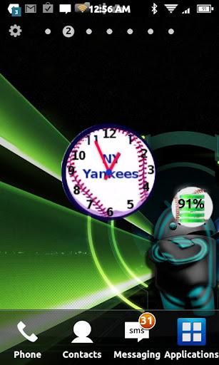 Yankees Team Clock Widget
