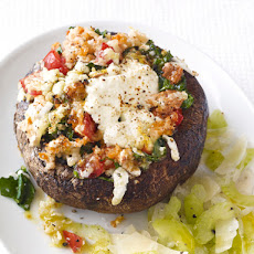 Cheese-Stuffed Portobellos