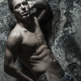 dry by Ricardo Marques - People Portraits of Men ( nude, jeans, muscle, man )