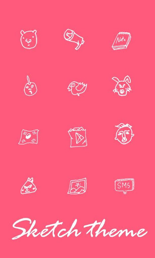 Go Sketch Theme Pink