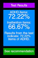 Screenshot of ADHD Test