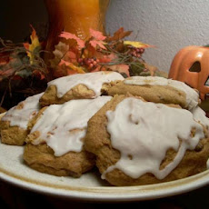 Glazed Soft Pumpkin Cookies