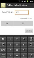 Screenshot of Golden Ratio Calculator