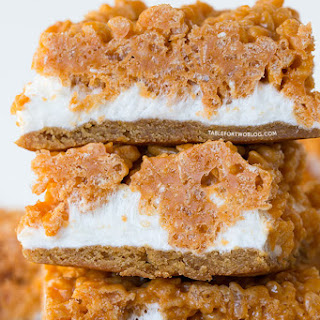 Butterscotch Fluffernutter Krispy Bars