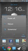 Screenshot of Brushed Steel CM10 Theme Free