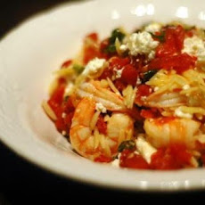 Orzo with Shrimp, Feta Cheese, and White Wine