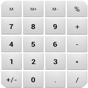 Easy calculator with percent