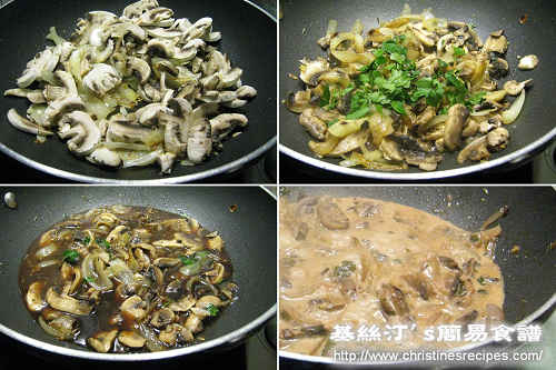 菲力牛扒配蘑菇紅酒汁製作圖 Steak Fillet with Mushroom and Red Wine Sauce Procedures