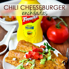 Chili Cheeseburger Enchiladas