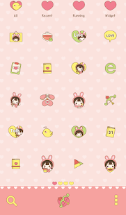 Petit Bboing(cupid)Dodol Theme - screenshot