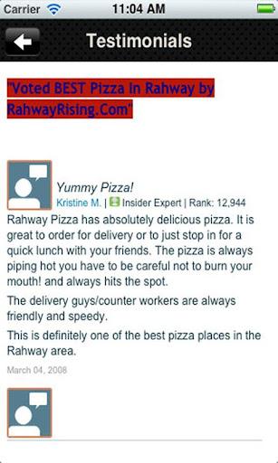 玩旅遊App|Rahway Pizza免費|APP試玩