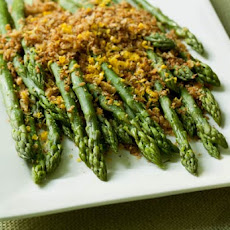 Asparagus with Brioche Crumbs