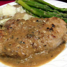 Pork Loin Cutlets With Lemon-Thyme Sauce