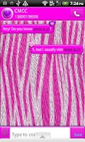 Screenshot of GO SMS THEME/CottonCandyZebra4