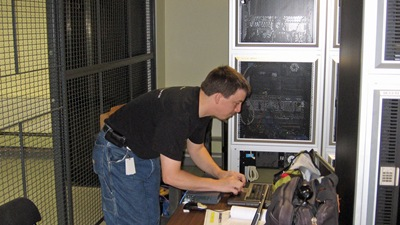 Ian preparing for install