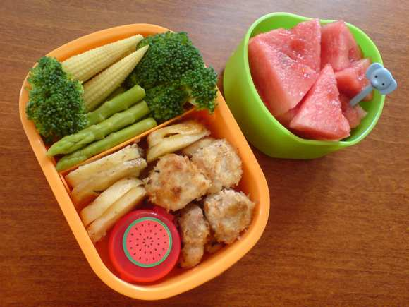 chicken nugget bento