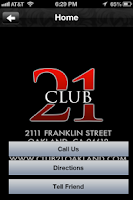 Screenshot of Club 21 Oakland