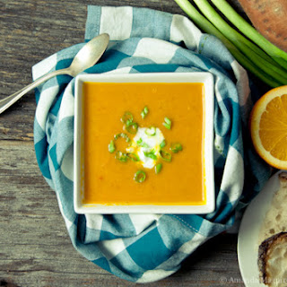 Roasted Carrot Orange Turmeric Soup