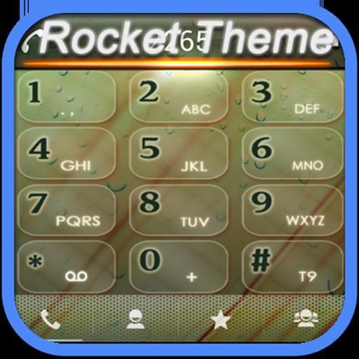 RocketDial Rain Theme 通訊 App LOGO-硬是要APP