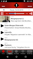 Screenshot of Radio Ö1
