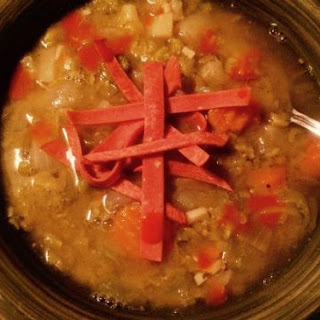 Hearty Split Pea Soup ( Vegan Low Calorie Low Fat )