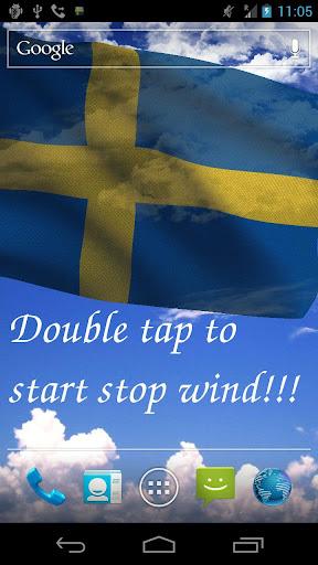 3D Sweden Flag Live Wallpaper+