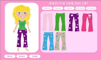 Screenshot of Johna's Dress Up
