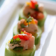 Ceviche in Cucumber Cups
