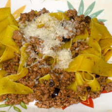 Veal and Olive Ragù With Pappardelle