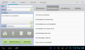 Screenshot of Punch List