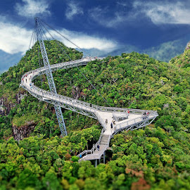 Langkawi Bridge by Manu Schwingel - Buildings & Architecture Bridges & Suspended Structures ( epic, mountains, mountain, jungle, asia, bridge, langkawi, rainforest, island )
