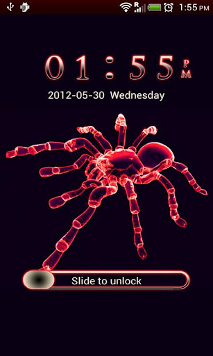 GO Locker Neon Red Spider