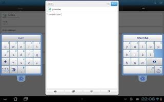Screenshot of SwiftKey Tablet (Legacy)