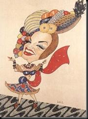 caricatura Carmen miranda