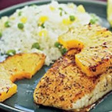 Jerk Fish with Pineapple Rice