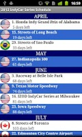 Screenshot of 2014 IndyCar Series Schedule
