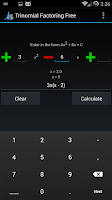 Screenshot of Trinomial Factoring Free