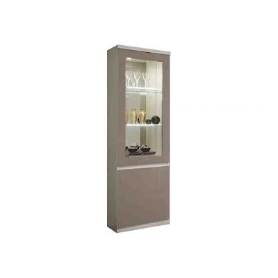 acheter vitrine 1 porte roma noir pantin chez pantin meubles dilengo. Black Bedroom Furniture Sets. Home Design Ideas