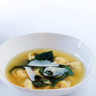 Tortellini In Broth with Swiss Chard and Pecorino