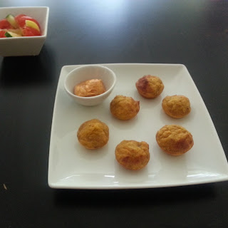 Plantain muffins with DVees suyanaise dip
