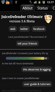 JuiceDefender - battery saver Screenshot